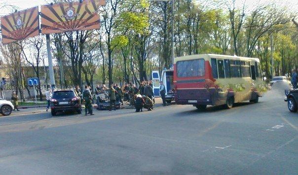 Пьяный боец «ДНР» устроил ДТП со стрельбой в центре Донецка (фото) - фото 1