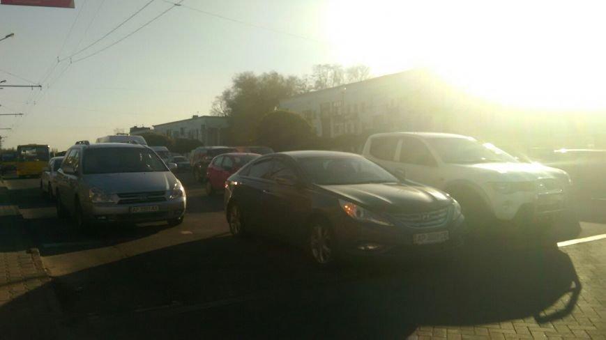 В Запорожье наблюдались заторы на дороге в районе Металлургов (ФОТОФАКТ) (фото) - фото 1