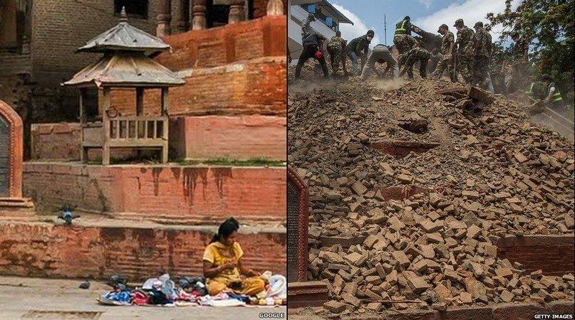 Землетрус у Непалі: до і після (фото) - фото 2