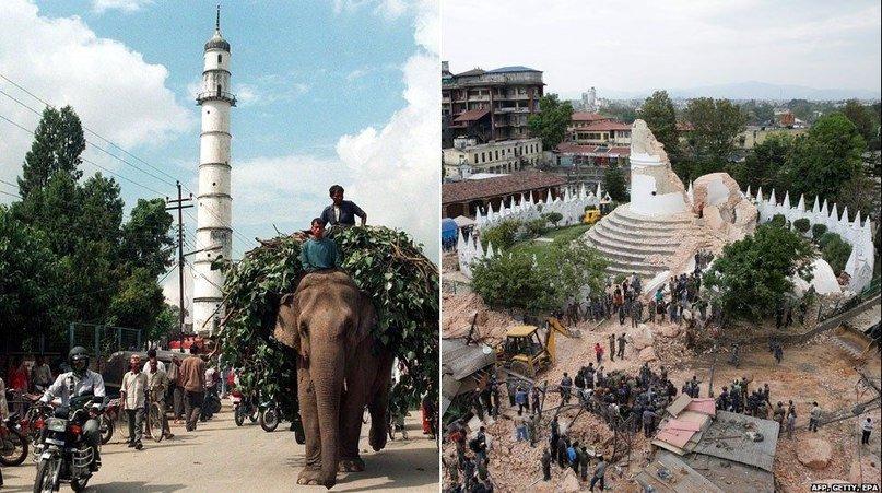 Землетрус у Непалі: до і після (фото) - фото 1