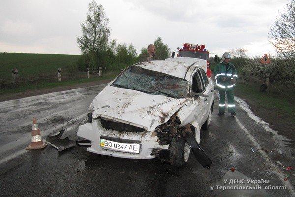 На Тернопільщині перекинувся автомобіль «Chevrolet Aveo» (фото) (фото) - фото 1