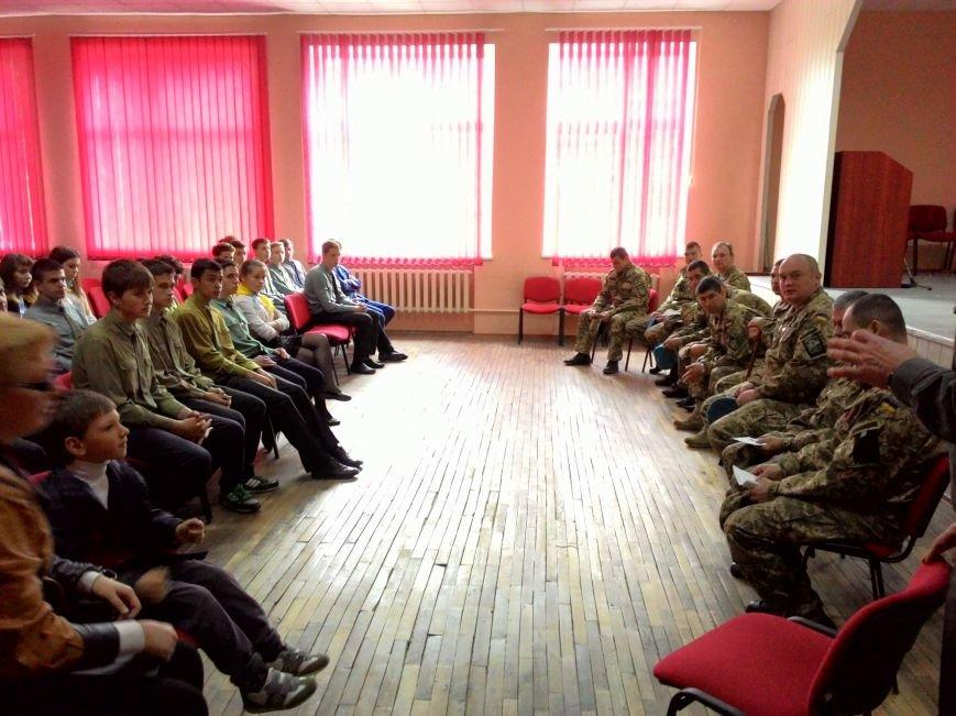 В днепродзержинском лицее НИТ прошла встреча с десантниками 25-й бригады, фото-1