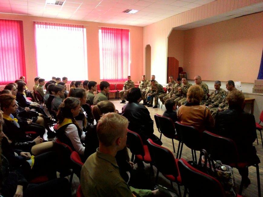 В днепродзержинском лицее НИТ прошла встреча с десантниками 25-й бригады, фото-3