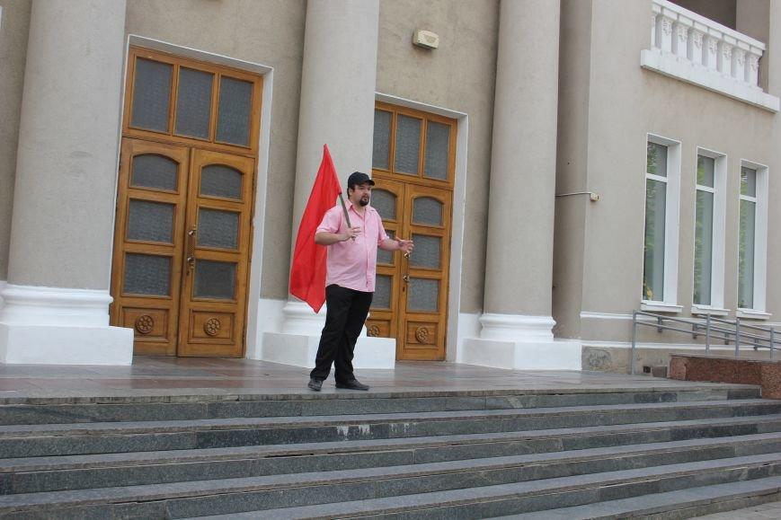 1 Мая в Артемовске прошел небольшой, но традиционный митинг, фото-2
