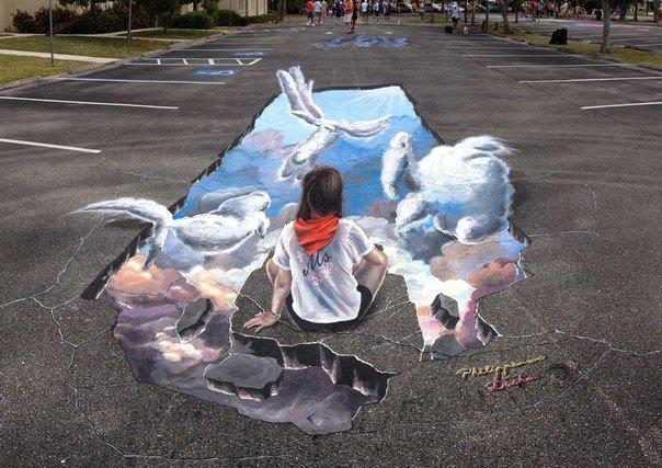 Волгоградский художник-мадоннари вошел в  «Книгу рекордов Гиннесса» и снова нарисовал  «Коммунальную рапсодию», фото-3