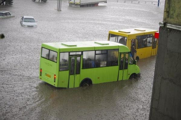 Потоп в Краматорске после ливня, фото-2
