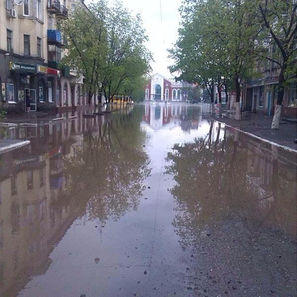 Потоп в Краматорске после ливня, фото-4