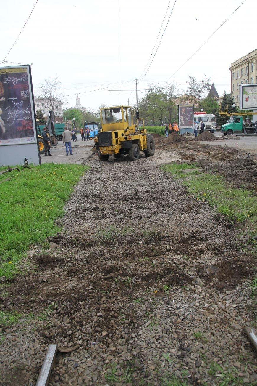 В центре Днепропетровска ремонтируют трамвайные пути (ФОТО), фото-2