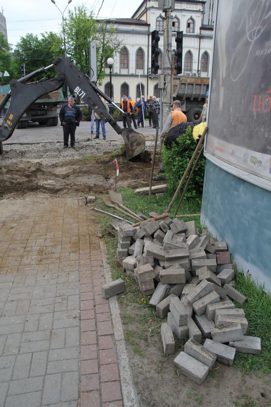 В центре Днепропетровска ремонтируют трамвайные пути (ФОТО), фото-10