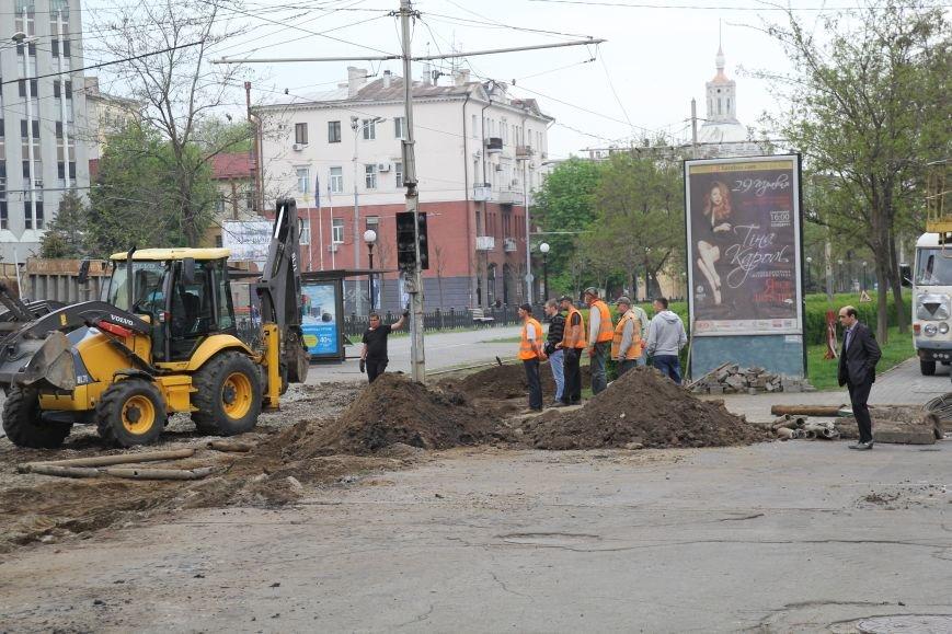В центре Днепропетровска ремонтируют трамвайные пути (ФОТО), фото-4