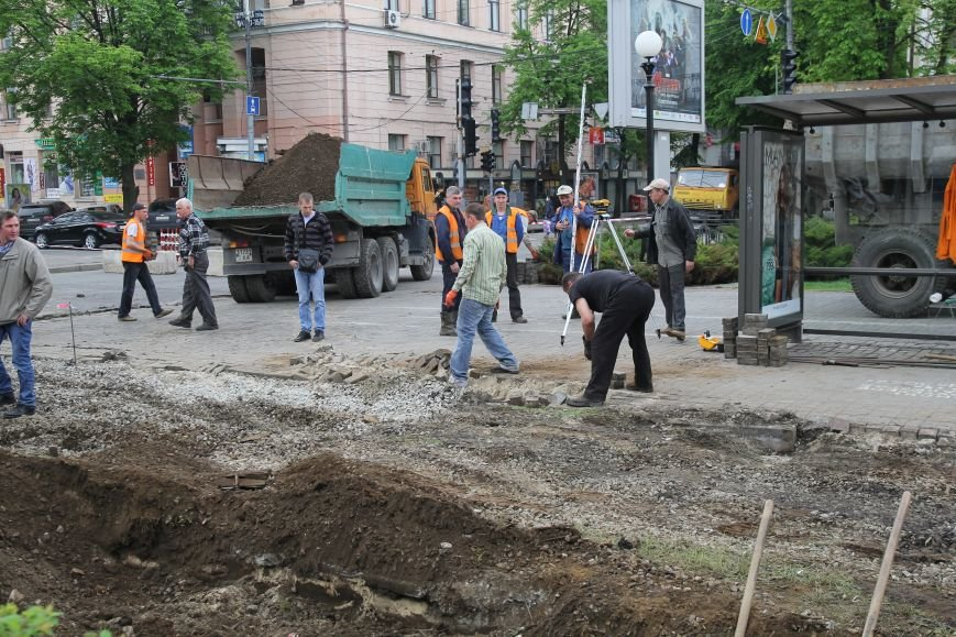 В центре Днепропетровска ремонтируют трамвайные пути (ФОТО), фото-7