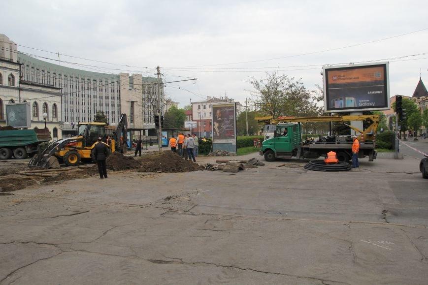 В центре Днепропетровска ремонтируют трамвайные пути (ФОТО), фото-8