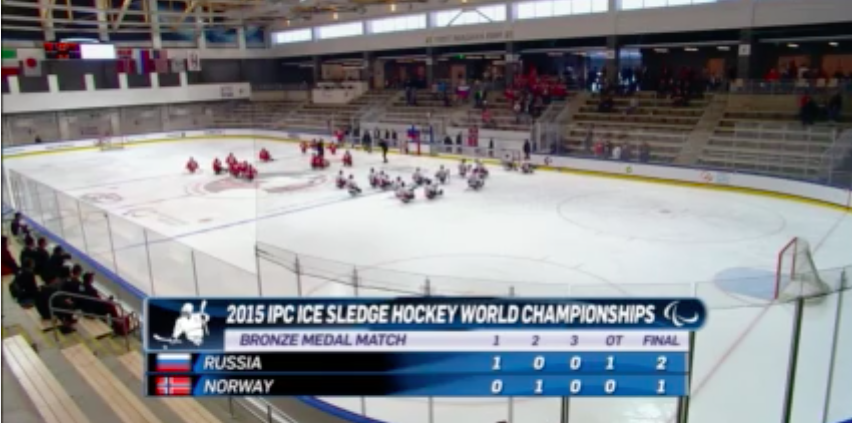 2015-05-03 20-12-50 ▶ Norway v Russia | Bronze medal game | 2015 IPC Ice Sledge Hockey World Championships A-Pool, Buffalo