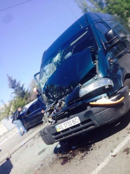 В Днепропетровске столкнулись два автомобиля (ФОТОФАКТ) (фото) - фото 1
