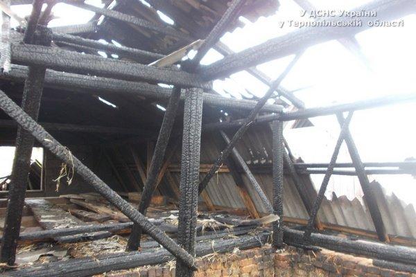 На Тернопільщині через необережність згорів будинок (фото) (фото) - фото 1