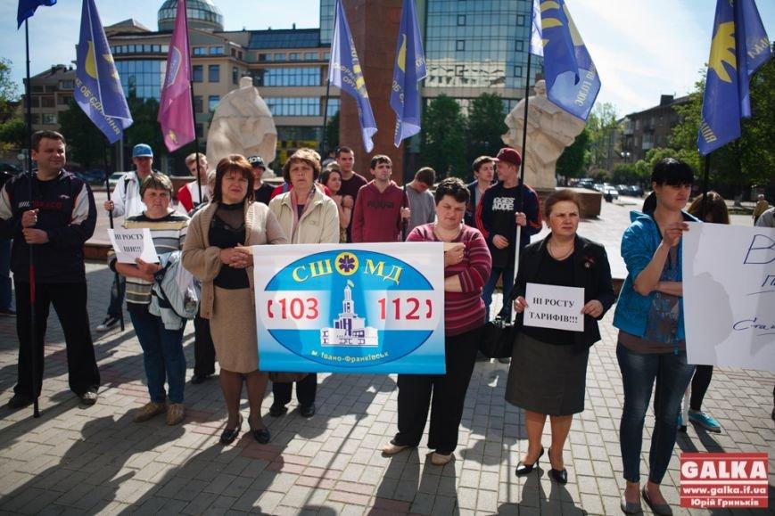 В Івано-Франківську знову організували протест за зменшення тарифів, фото-3