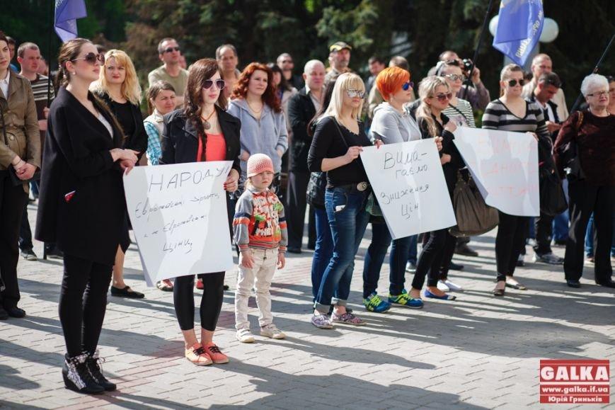 В Івано-Франківську знову організували протест за зменшення тарифів, фото-2