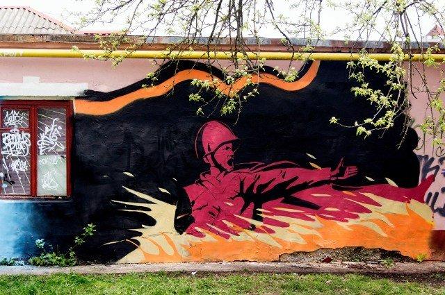 Брянск разукрасили граффити к 9 мая (фото) - фото 4