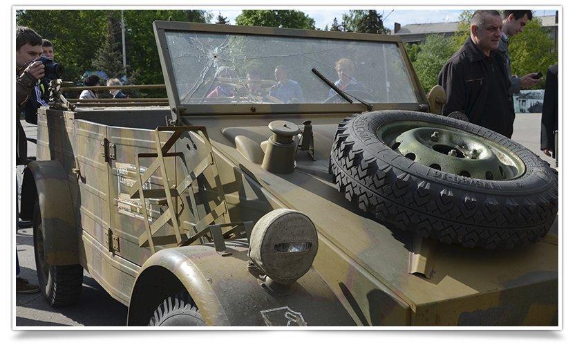 Славянск посетили раритетные автомобили времён Второй мировой войны (фото) - фото 7