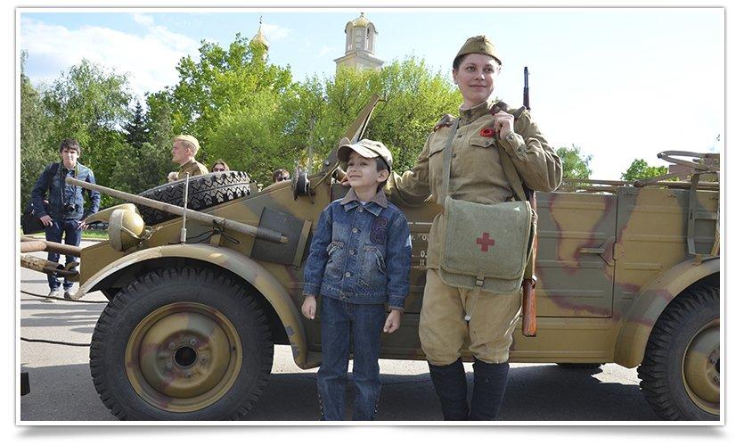 Славянск посетили раритетные автомобили времён Второй мировой войны (фото) - фото 8