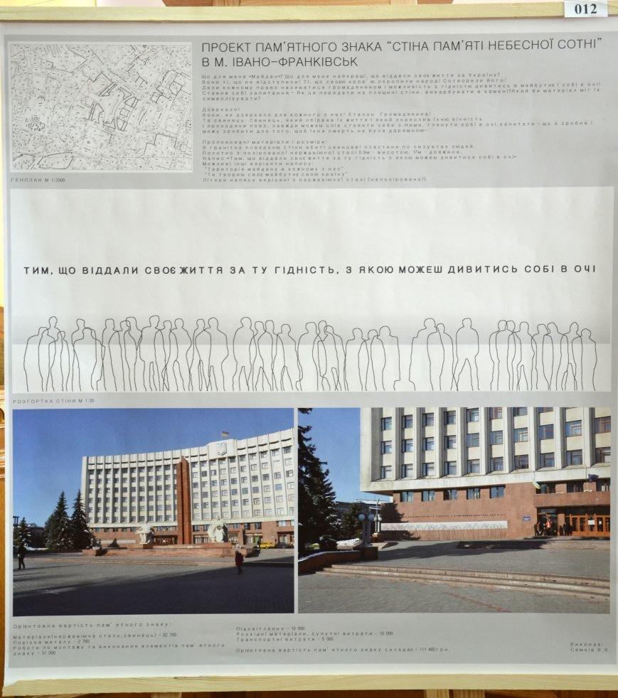 Обрано чотири кращі ескізні пропозиції пам'ятного знаку «Стіна пам'яті «Небесної сотні» (фото) - фото 3