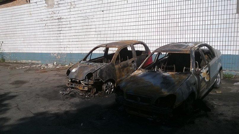 В Кривом Роге ночью сгорели  две иномарки (ФОТО) (фото) - фото 1