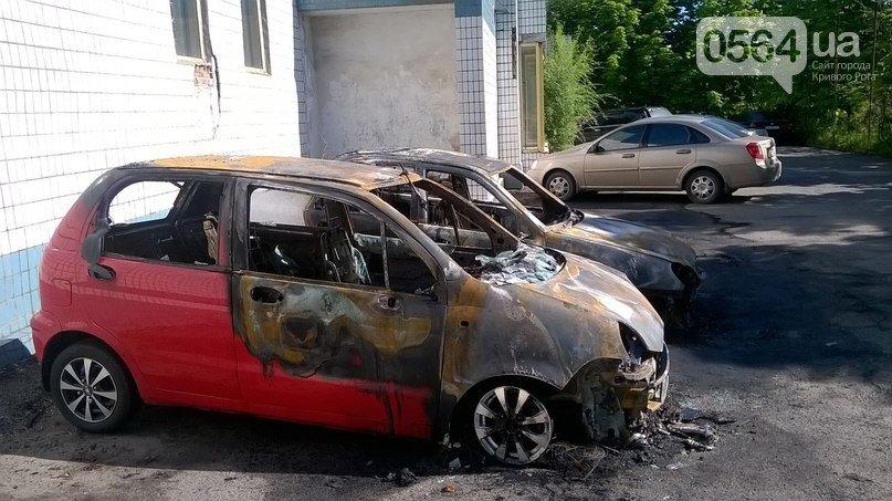 В Кривом Роге: сгорели две машины, вынесли из задымленной квартиры бабушку, пикетировали прокуратуру, УВД и СБУ (фото) - фото 1