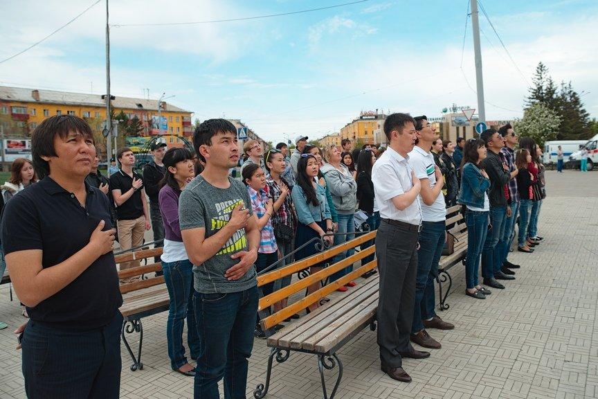 Прошел массовый просмотр парада с участием Президента РК, фото-1