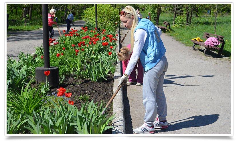 Работники культуры Славянска сегодня вышли на субботник (фото) - фото 2
