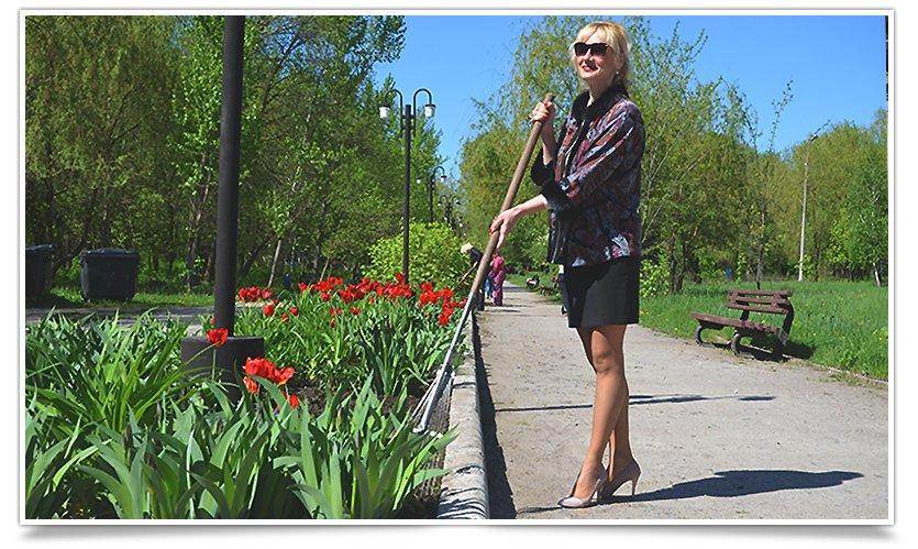 Работники культуры Славянска сегодня вышли на субботник (фото) - фото 11
