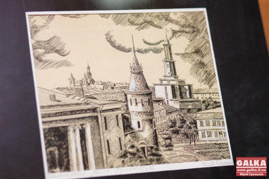 З нагоди дня народження Івано-Франківська студенти міста подарували картини, фото-2