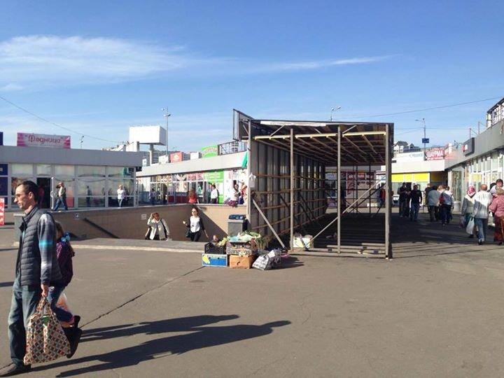 На Позняках строят пожароопасные МАФы (ФОТОФАКТ) (фото) - фото 1