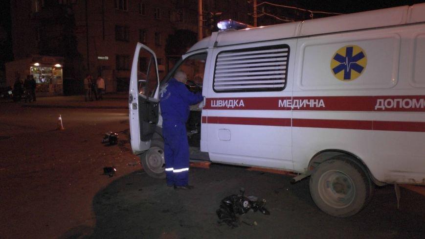 В Днепропетровске столкнулись «скорая» и мотоциклист (ФОТО) (фото) - фото 1