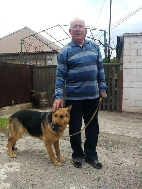 Мариупольский пенсионер приютил собаку из зоны АТО (ФОТО), фото-1