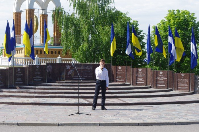 7 мая в Автозаводском районе Кременчуга состоялся митинг по случаю 70-й годовщины победы во Второй мировой войне, фото-4