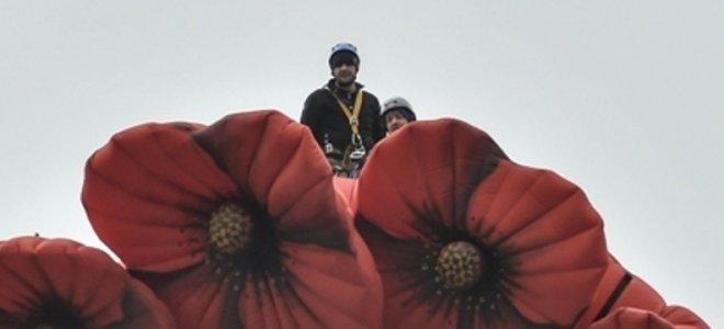 Руфер Мустанг украсил «Родину-мать» в Киеве веночком из красных маков в День памяти и примирения (фото) - фото 1