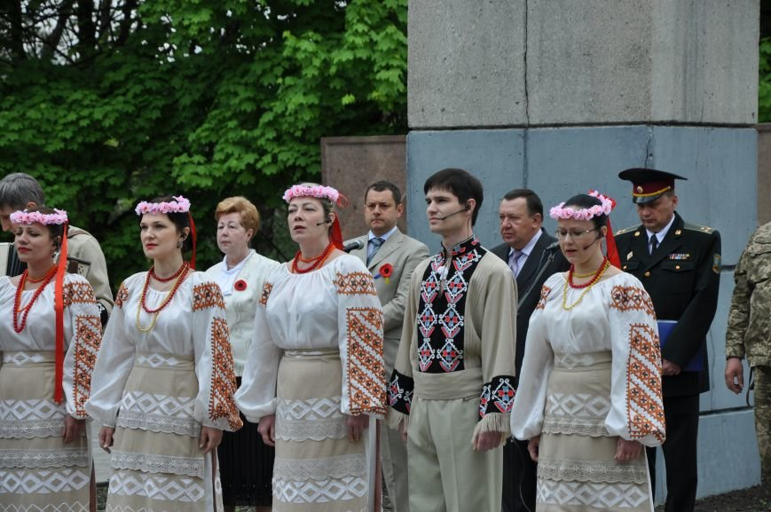 В Краматорске в сквере Героев у Вечного огня состоялся митинг, фото-20