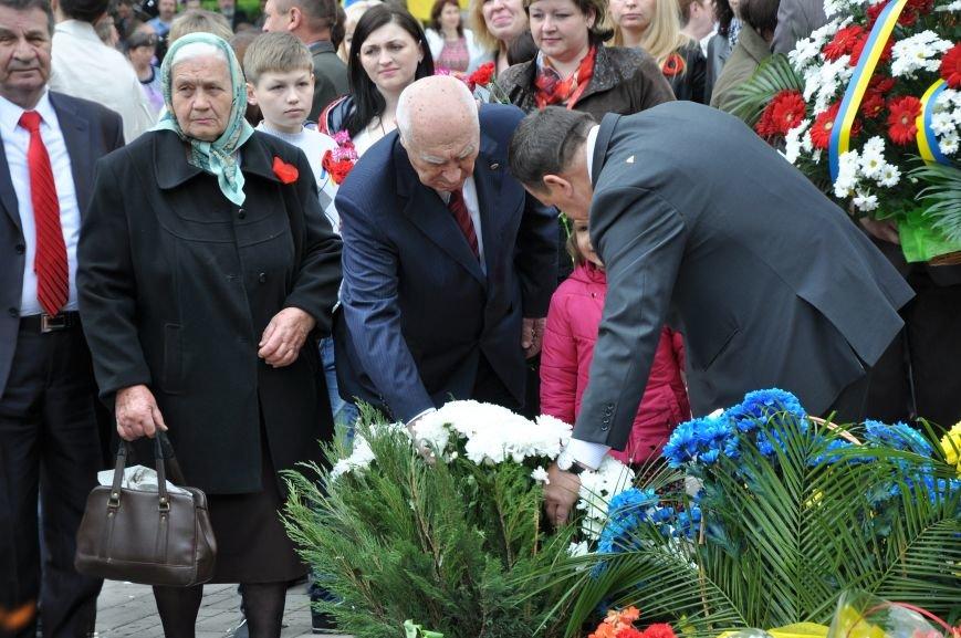 В Краматорске в сквере Героев у Вечного огня состоялся митинг, фото-28