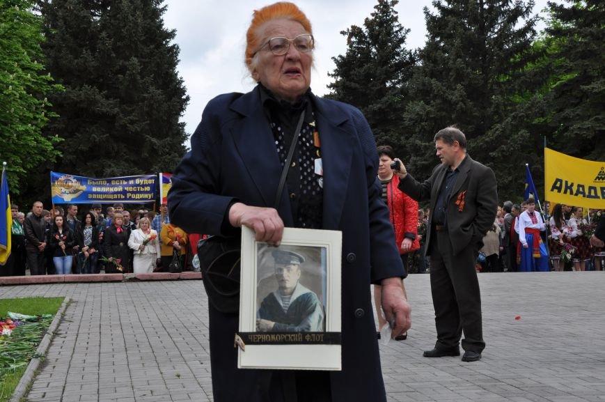 В Краматорске в сквере Героев у Вечного огня состоялся митинг, фото-11