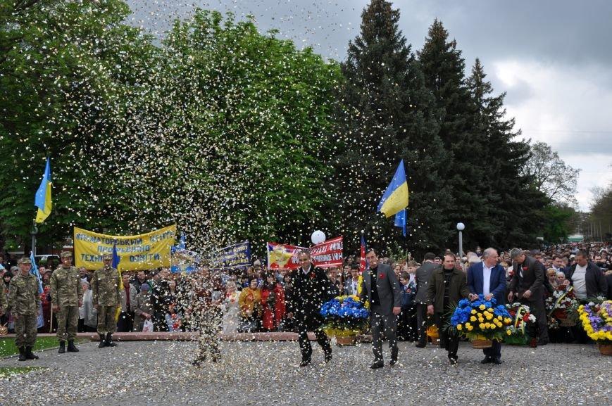 В Краматорске в сквере Героев у Вечного огня состоялся митинг, фото-23