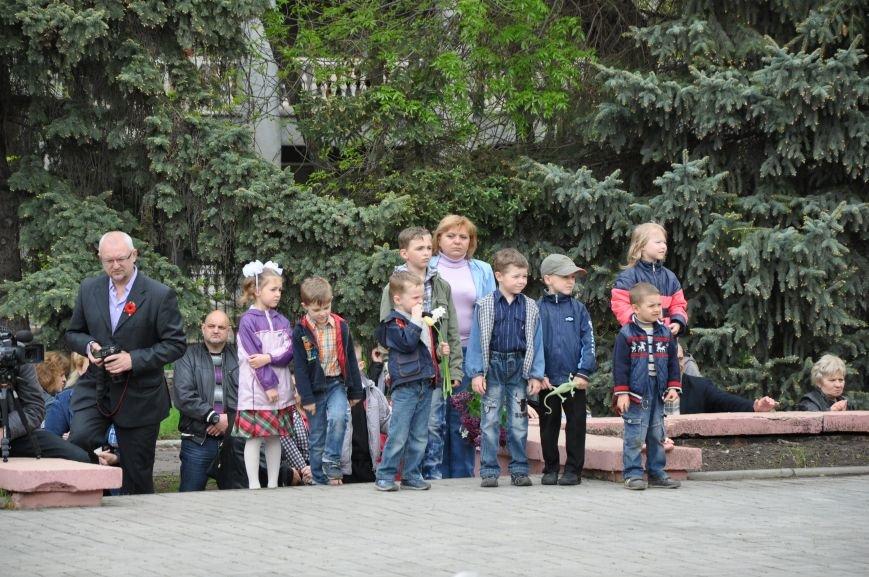 В Краматорске в сквере Героев у Вечного огня состоялся митинг, фото-18