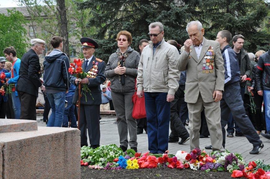 В Краматорске в сквере Героев у Вечного огня состоялся митинг, фото-24