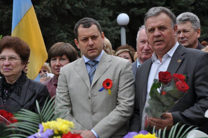 В Краматорске в сквере Героев у Вечного огня состоялся митинг, фото-15