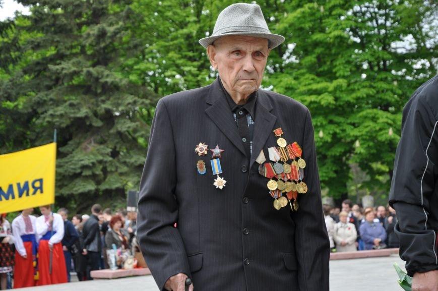 В Краматорске в сквере Героев у Вечного огня состоялся митинг, фото-10