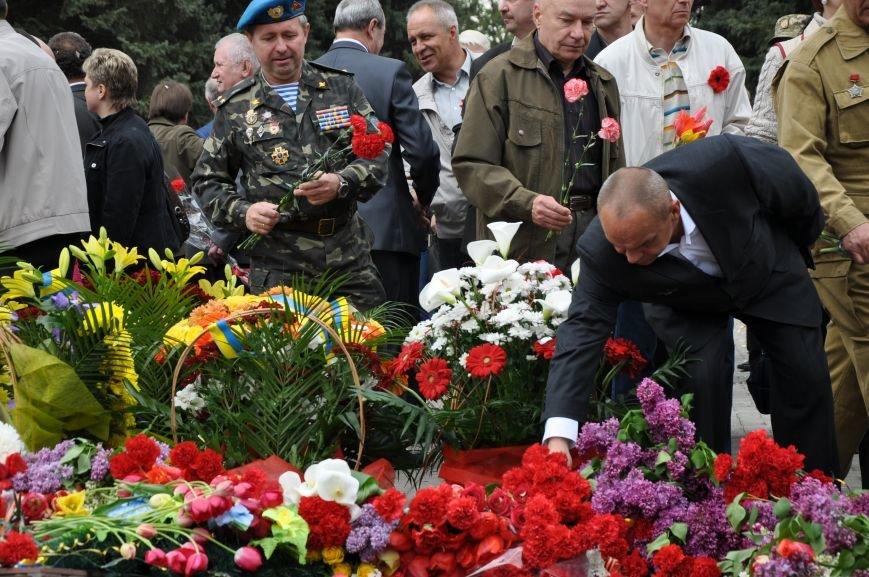 В Краматорске в сквере Героев у Вечного огня состоялся митинг, фото-29