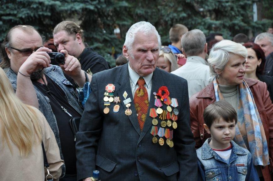 В Краматорске в сквере Героев у Вечного огня состоялся митинг, фото-9