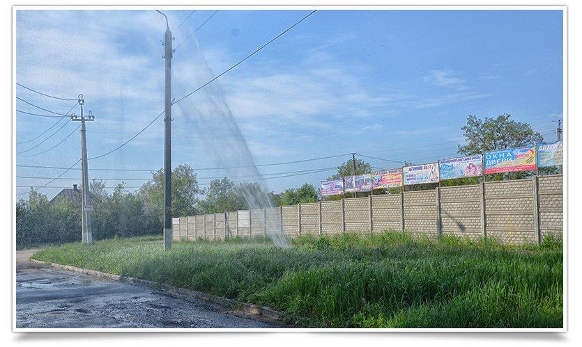Порыв водопровода «аж до неба» на Артёма (фотофакт) (фото) - фото 1