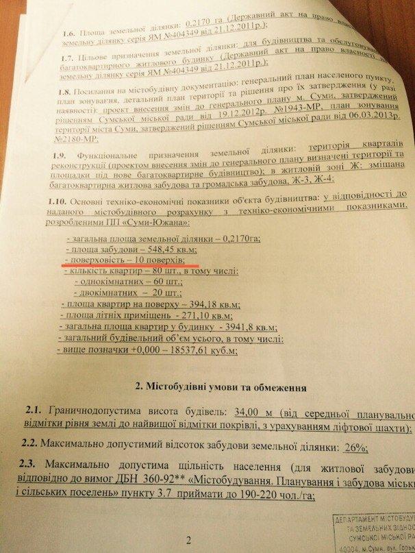 Недальновидность сумской власти заводит строительный бизнес в тупик (СКАНЫ) (фото) - фото 2