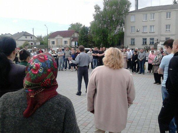 На Тернопільщині люди вийшли на протест (фото) (фото) - фото 1