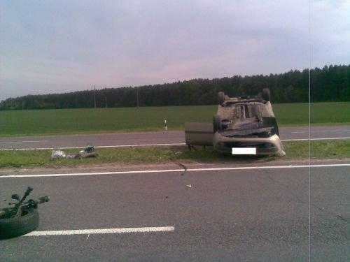 Под Скиделем перевернулась машина с ребенком: мать заснула за рулем (фото) - фото 1
